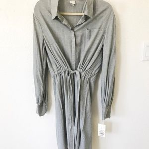 Heather Grey Shirt Dress
